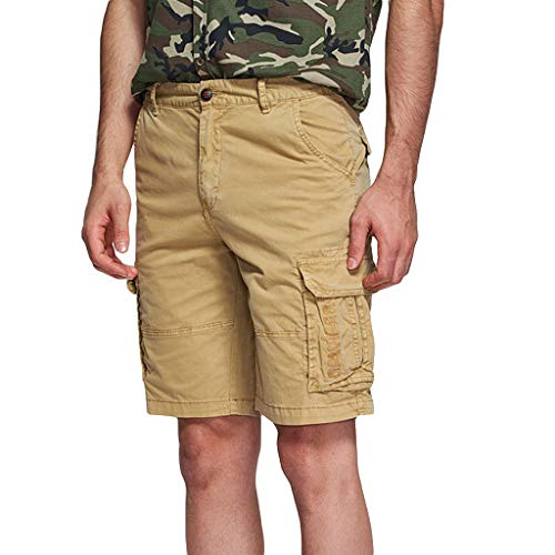 VEZAD Men Cargo Shorts Outdoor Wear Lightweight Combat Many Pockets Causal Pants