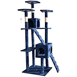 "New 73"" Cat Tree Scratcher Play House Condo Furniture Toy Bed Post Pet House T07 (Navy Blue)"