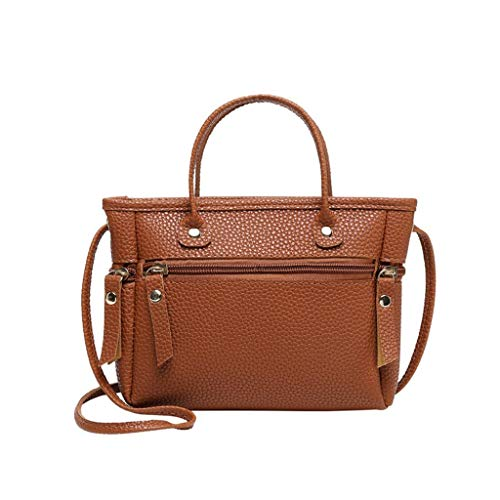 Cell Phone Purses and Handbags Miuye Big Capacity Messenger Bags Shoulder Bags Hobo Bags Rucksack Totes Satchels Brown