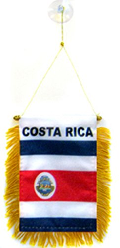 Costa Rica Flag Car Window Hanging Pennant