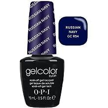 OPI Gelcolor Nail Polish, GCR54 Russian Navy, 0.5 Fluid Ounce