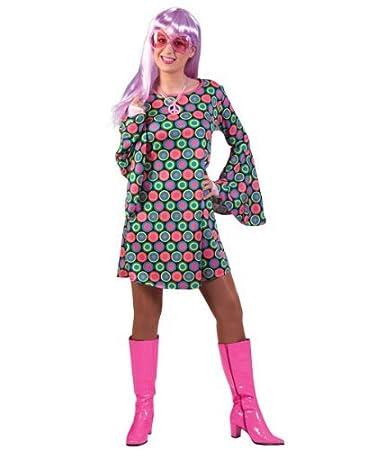 Kostum Retro Kleid Naomi Grosse 44 46 Damen 60er 70er 80er Jahre