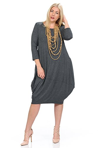 Pastel by Vivienne Women's Cocoon Midi Dress Plus Size X-Large (Pretty Bubble Dress)
