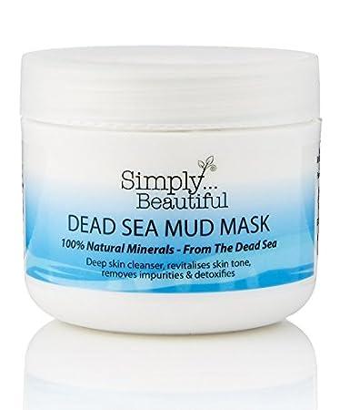 Mascarilla facial de barro del Mar Muerto – limpia en profundidad / purifica / reequilibra la piel – 100 ml: Amazon.es: Belleza