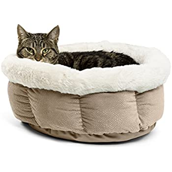 Amazon.com : Round Cat Bed Basket Nest Cotton Rope Woven