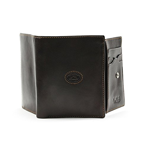 Ultimo Italian Case I Leather Tony D Coin Perotti Brown Credit Euro with Card Wallet UF8wtxw