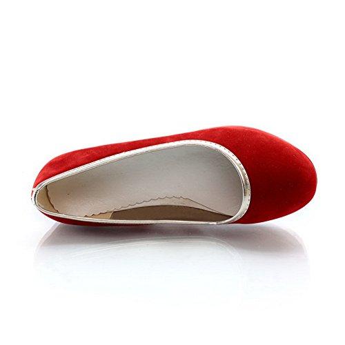 Balamasa Piattaforma Da Donna Tomaia Bassa Tomaia In Tessuto Pompe-scarpe Rosse