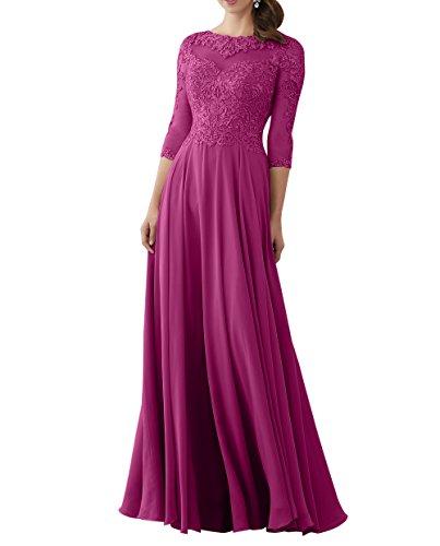 2018 Brautmutterkleider Brau mit Abschlussballkleider Spitze Neu Langarm Linie Langes Champagner mit Langarm Promkleider Abendkleider mia La A wHE58q