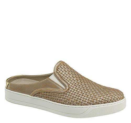 - Johnston & Murphy Women's Evie Gold Mule, Gold, 8.5 M