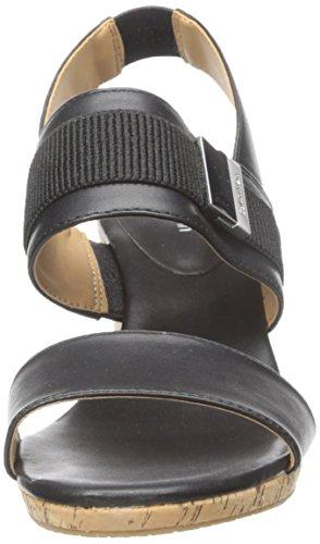 Calvin Klein Brandie Donna Pelle sintetica Sandalo con la Zeppa