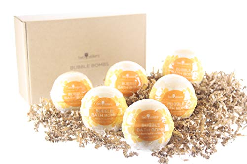 6 White Tea and Ginger Bubble Bath Bombs. Individually Wrapped Fizzies by Two Sisters ()