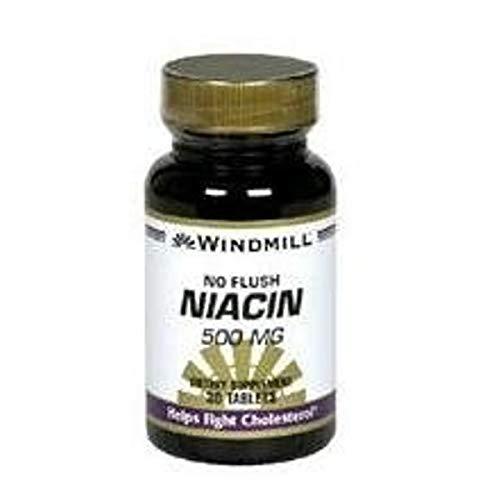 Windmill Niacin 500 mg Tablets No Flush 30 Tablets (Pack of 7)