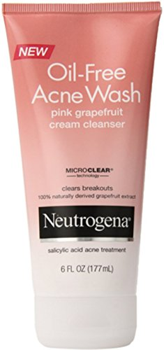 Neutrogena Oil-Free Acne Wash Cream Cleanser, Pink Grapefrui