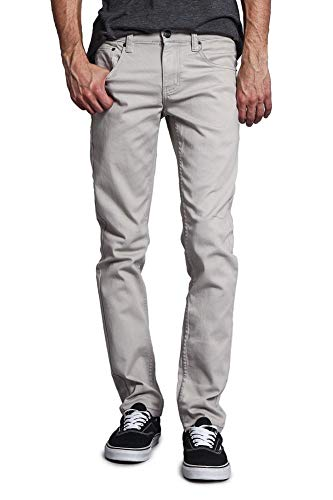 (Victorious Men's Skinny Fit Color Stretch Jeans DL937 - Grey - 42/30)