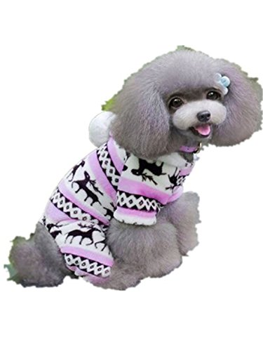 Doggie Bag Costume (Pet Dog Clothes,Hemlock Christmas Puppy Outwear Doggy Warm Clothes (L, Pink))