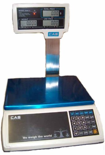 (CAS S-2000 Jr Price Computing Scale with LCD Pole Display 30 lbs)