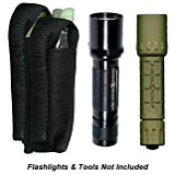 Ripoffs 3 Pocket Combo Holster - Flashlight, Multi-tool, Utility Pocket CO75 (Side Clip) by Ripoffs