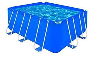 SKB Family Ground Above Swimming Pool Steel Round Wall Rectangular Frame Filter