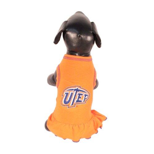NCAA Texas El Paso Miners Cheerleader Dog Dress (Team Color, X-Small)