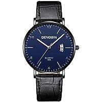 Hot Sale ! Axiba Mens Quartz Wristwatch, Retro Design Leather Band Analog Alloy Quartz Wrist Watch Clock (H)