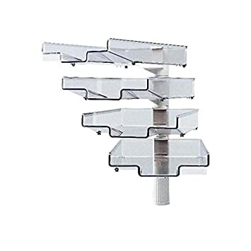 Styro h5034002 - Soporte giratorio para organizar documentos (4 bandejas)