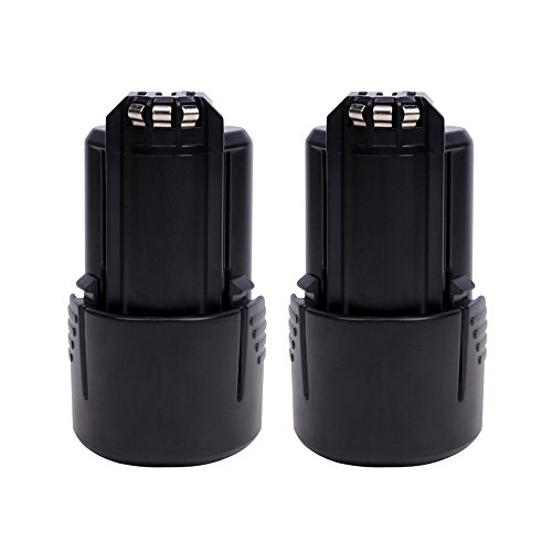 VANON 2PCS 2000mAh 12V Li-ion Rechargeable Battery Replacement for Bosch BAT411 BAT411A BAT412 BAT413 PS30 2 607 336 864