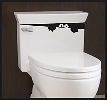 Toilet Monster Bathroom Wall Art Decal Sticker Funny Kids Vinyl Potty Training