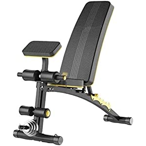 HOSTWEKLJT Adjustable Benches Dumbbell Bench, Adjustable Multi-Function Workout Foldable Utility Weight Bench for Full Body Workout Supine Board Exercise Bench Workout Bench