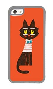 Apple Iphone 5C Case,WENJORS Uncommon Fitz Preppy cat Soft Case Protective Shell Cell Phone Cover For Apple Iphone 5C - TPU Transparent