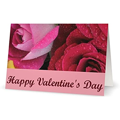 Valentines Day Roses Spouse Husband Wife Greeting Card 5x7 by QuickieCards Sales
