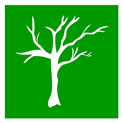 Auto Vynamics - STENCIL-TREE-06 - Tree Design 6 Individual Stencil from Detailed Tree/Trees Stencil Set! - 10-by-10-inch Sheet - Single Design (Dead Tree Stencil)