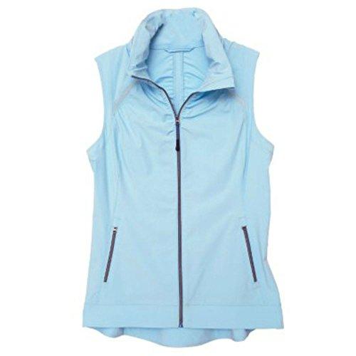 Tangerine Active Stretch Woven Shirring Vest (Large, Blue)