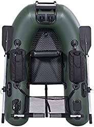 Inflatable Boat Belly Boat Fishing Float Tube with Storage Pockets, Adjustable Straps & Bracket for trolli