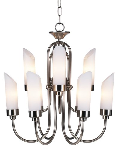 Possini Euro Design Brushed Steel and Opal Glass Chandelier Euro Pewter Chandelier