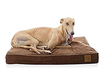 LaiFug Orthopaedic Memory Foam Plegable Pet/Dog Bed, 102ⅹ76ⅹ20, Chocolate, Forro Resistente al Agua Duradero, Funda extraíble Lavable.
