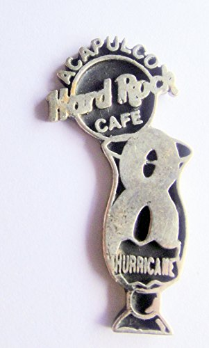 1997 8th Anniversary Sterling Silver Hurricane w/HRC Classic Logo Pin Hard Rock Cafe Acapulco Mexico
