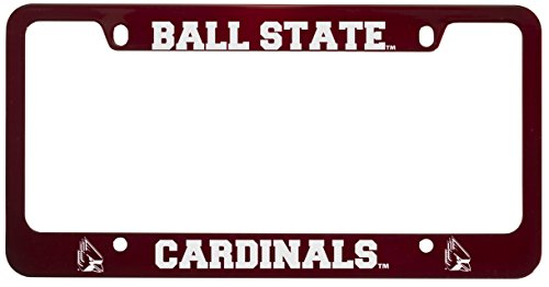 Frame Ball - Ball State University -Metal License Plate Frame-Red
