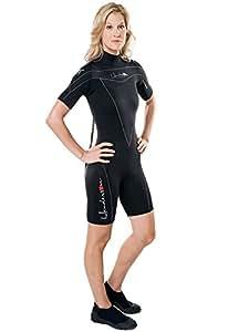 Henderson Woman Thermoprene 3mm Shorty (Back Zip) Scuba Diving Wetsuit-Black-10
