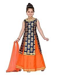 Adiva Girl's Indian Party Wear Lehenga Choli for Kids