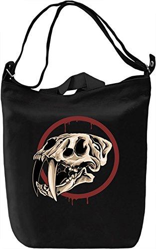 Big cat skull Borsa Giornaliera Canvas Canvas Day Bag| 100% Premium Cotton Canvas| DTG Printing|