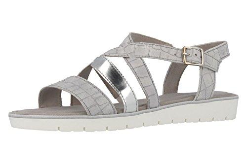 Gabor––Sandalias para mujer–Gris Guantes en tallas especiales Gris - gris