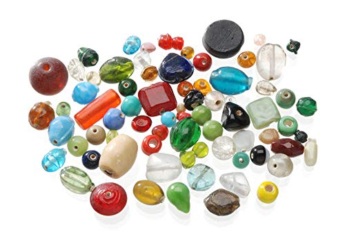 Jewelry Designer 0726-70 Darice Glass Beads Value Pack: Assorted Colors & Sizes, Multicolor