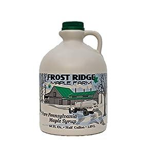 Frost Ridge Maple Farm, Organic Maple Syrup, Grade A, Half Gallon (64 FL Oz), Dark Robust