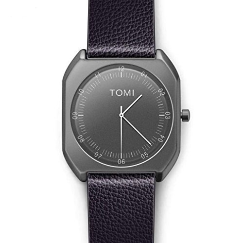 Price comparison product image Simple Retro Square Quartz Watch Paphos Black