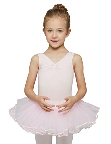 MdnMd Leotard with Tutu for Girls by (Ballet Pink, Age 4-6, Tag 120) - Leotard Tutu