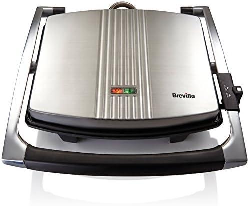 Breville VST026 Sandwichera tipo Panini 2000W, 2000 W, 3 Decibeles ...