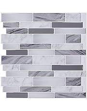 "12"" x 12"" Premium Peel and Stick Tiles Backsplash, Stick On Kitchen Backsplash Bathroom Wall Tile"