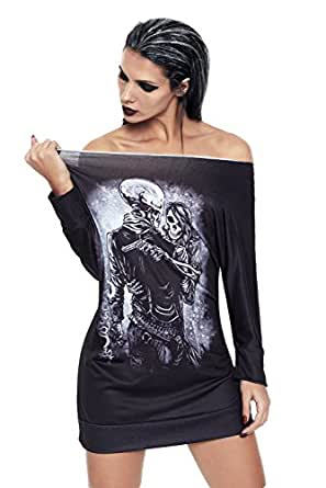 Amazon.com: AMLLY Women Off the Shoulder Long Sleeves