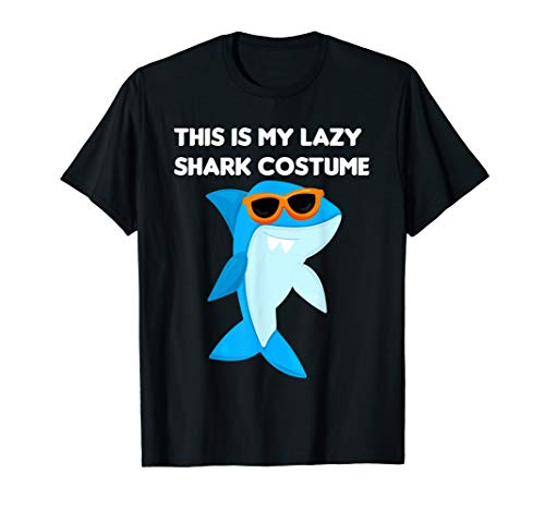 This Is My Lazy Shark Costume Halloween T-Shirt