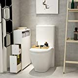 Tangkula Slim Bathroom Storage Cabinet, Wooden
